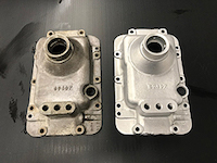 Parts before and after Vapour blaster process